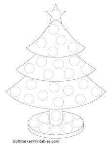 Dot Marker Printable Christmas Tree