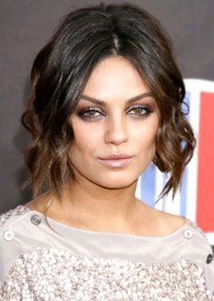a simple hairstyle that can be worn on an overdone gown for a classy event. - See more at: http://beautyhairtotoe.com/celebrity-hairstyle-mila-kunis-hair-evolution/