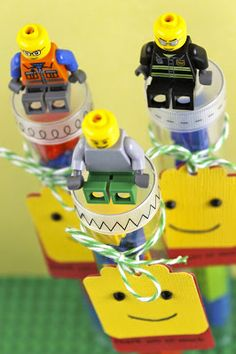 SRM Stickers - Emma Jeffery created these Lego TUBES using SRM Stickers including Sticker Stitches.