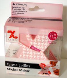 Teresa Collins sticker maker by Xyron--CUTE!