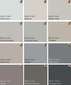 Grey Benjamin Moore Paints.