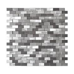 Eden Mosaic Tile EMT_AL09-MIX-CB-11PK 3D Raised Brick Pattern Grey Blends Aluminum Mosaic Decorative