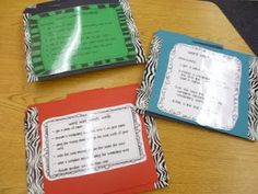 File folders + duct tape (Use for group work and centers)