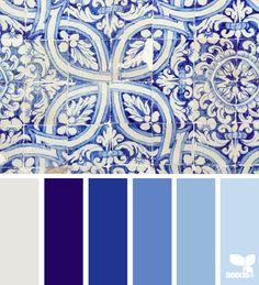 tiled blues - color palette from Design Seeds
