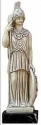 Athena,Greek Goddess of wisdom and women's crafts, defender against evil and warrior Goddess. Any questions?