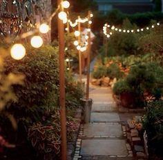 romanc, diy backyard lighting, pathway, wedding lighting, fences, hous, diy backyard lights, garden, diy backyards