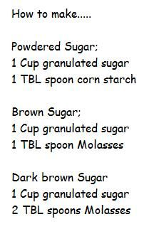 Sugar Recipes...