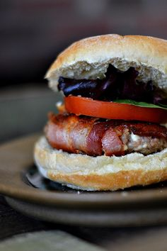 Bacon Wrapped Blue Cheese Burgers