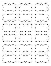blank fancy label templates