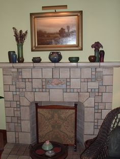Beautiful Batchelder Fireplace