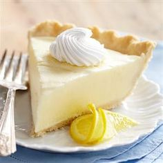 Sour Cream Lemon Pie - If no crust, or a GF crust