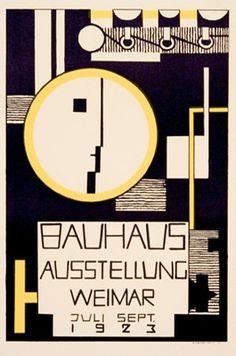 Affiche Bauhaus 1923