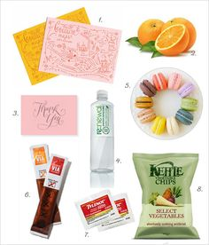 Things to put in out-of-town guests' hotel goody bags