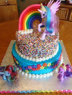 My Little Pony Rainbow Cake — Birthday Cakes