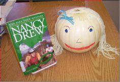 Nancy Drew Book Pumpkin