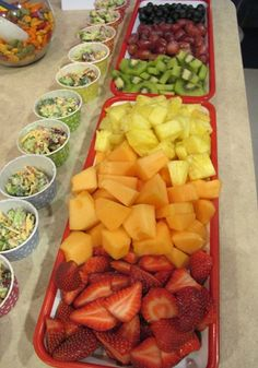 Healthy Rainbow Fruit Display