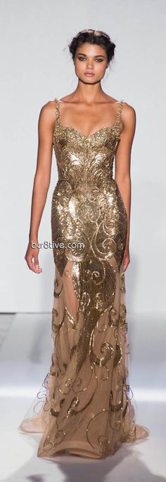 A beautiful statement dress! I desire to make it modest! How cool would it be to design a modest one! Zuhair Murad Spring Summer 2013 Haute Couture - Paris