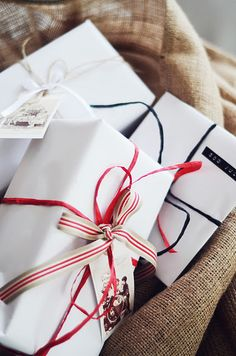 White paper - nice #gift #wrapping #presents #packaging #simple