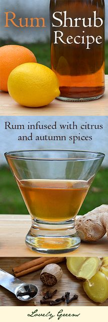 Recipe for spicy and sweet Rum Shrub, a Cornish liqueur made with citrus, ginger, cloves, and golden rum - If this doesn't warm you up this Autumn, nothing will! :)  #liqueur #recipe #alcoholic #beverages