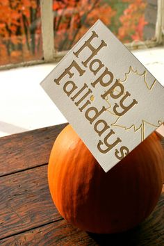 Cute saying to attach to some fall baked goods