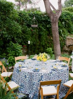 Adorable Summer Time Bridal Shower, Bright Yellows, Blues! Backyard Bridal Shower, Bridal Shower Decor and Ideas.
