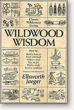 """This comprehensive and beautifully illustrated handbook was written by Ellsworth Jaeger in 1945. Jaeger was a faculty member of the Buffalo Museum of Science and an authority on American Indian lore and camping. Wildwood Wisdom is dedicated not just to the spirit of """"our ancestral buckskin men,"""" but also to the native Americans who willingly taught the white newcomers the basic necessities of life and survival in this new land."""