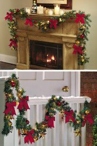 Really pretty ideas for lighted garland!