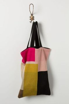 colorblock sweater tote @Anthropologie