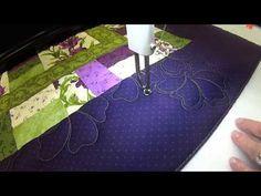 L&R Designs Quilting   Floral Meander Cockscomb Variation