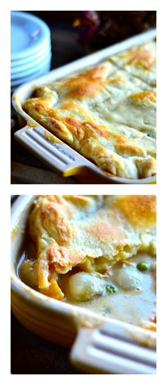 Turkey Potpie with Butternut and Pearl Onions   reluctantentertainer.com #recipe