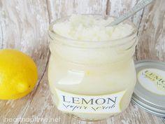 Lemon Sugar Scrub...would be a great DIY gift to give!