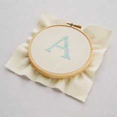 Seed Stitch tutorial Embroidery