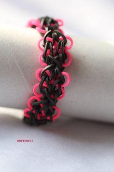 Rubber Band Bracelet butterfly bracelet.Great gift.