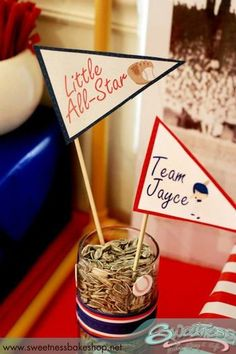 Hostess with the Mostess® - Vintage Baseball Baby Shower