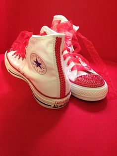 Bedazzled Hightop Converse by DazzleBearBoutique on Etsy, $95.00