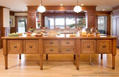 #Kitchen Idea of the Day: Shaker Kitchen Island (By Crown Point Cabinetry)