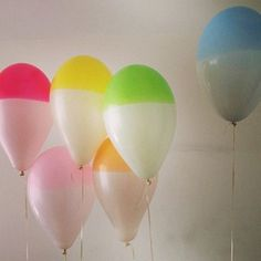DIY colored balloons #party #kids