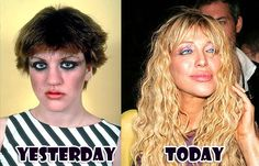 Courtney Love - before & after