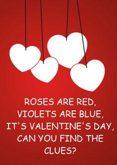 Valentine's Day Scavenger Hunt Idea for your kiddos