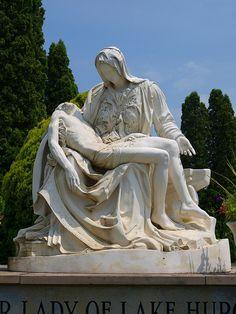 The Lady of Lake Huron   Statue in a Graveyard  Lake Huron  Michigan