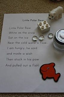 Polar Bear Poetry Basket