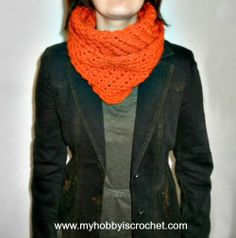 My Hobby Is Crochet: Crochet Infinity Scarf Doris- Free Written and Charted Pattern