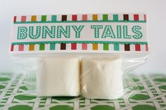 bunny tails - Easter favor - free printable