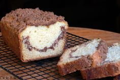 Cinnamon Swirl Quick Bread with Crumb Topping