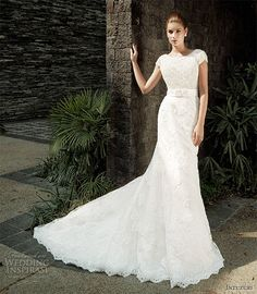 Intuzuri bridal gown with augustine lace