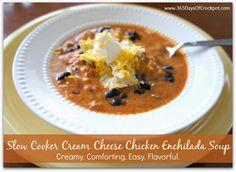 Slow Cooker Cream Cheese Chicken Enchilada Soup