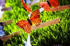 butterfly escort cards #wedding
