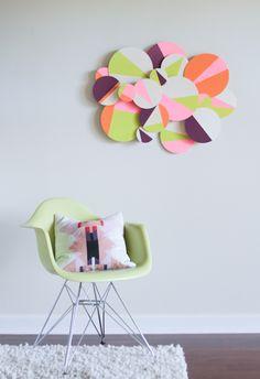 make this: wood + neon wall art diy