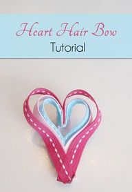 Heart Hair Bow Craft Tutorial for Valentine's Day