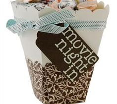 Get ready for a romantic night with this homemade popcorn box!